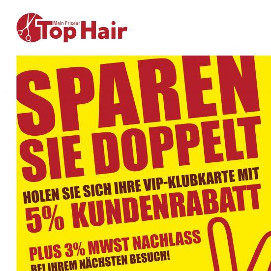 Doppelt Sparen Plakat der Top Hair Mein Friseur